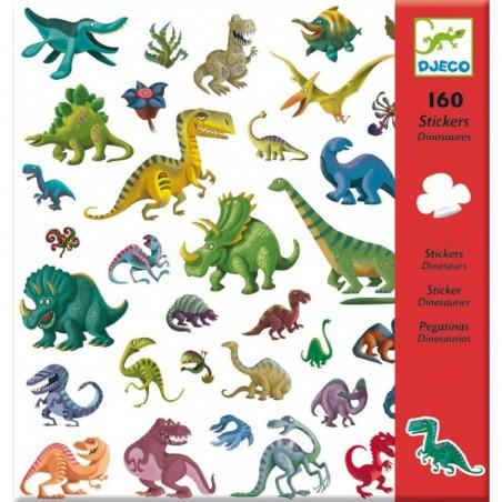 160 stickers - Dinosaures un jeu Djeco