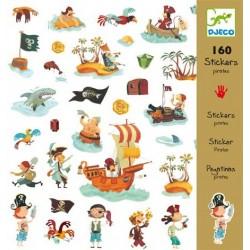 160 stickers - Pirates un jeu Djeco