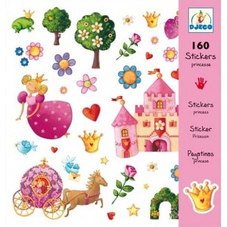160 stickers - Princesses un jeu Djeco