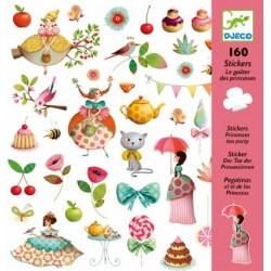 160 Stickers - Le thé des princesses un jeu Djeco
