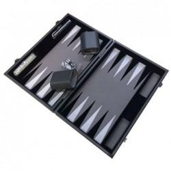 Backgammon Gris Prestige 30cm un jeu Loisirs Nouveaux