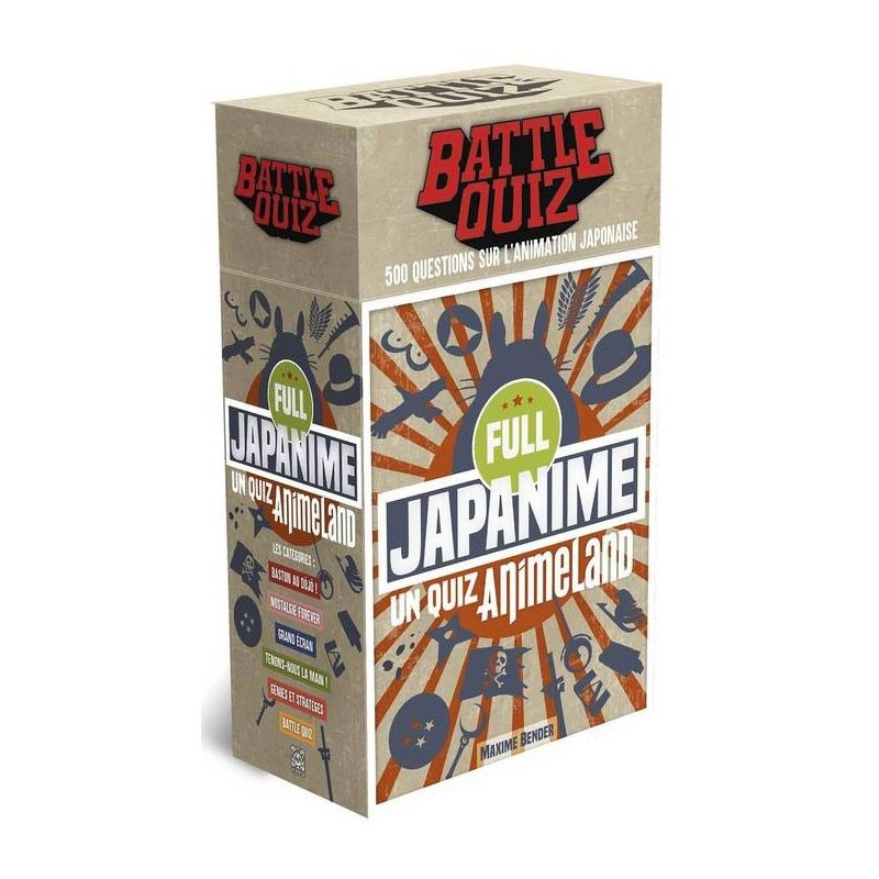 Battle quiz Full Japanime un jeu Ynnis éditions