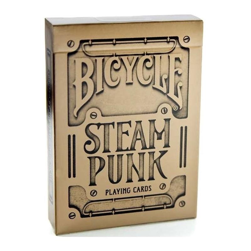 Jeu de cartes Bicycle Steam Punk Gold un jeu Bicycle