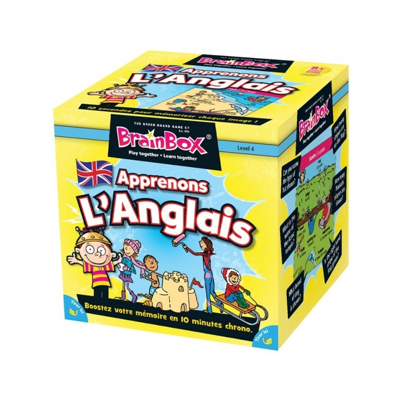 Brainbox - Apprenons l'anglais un jeu The green Board Game co