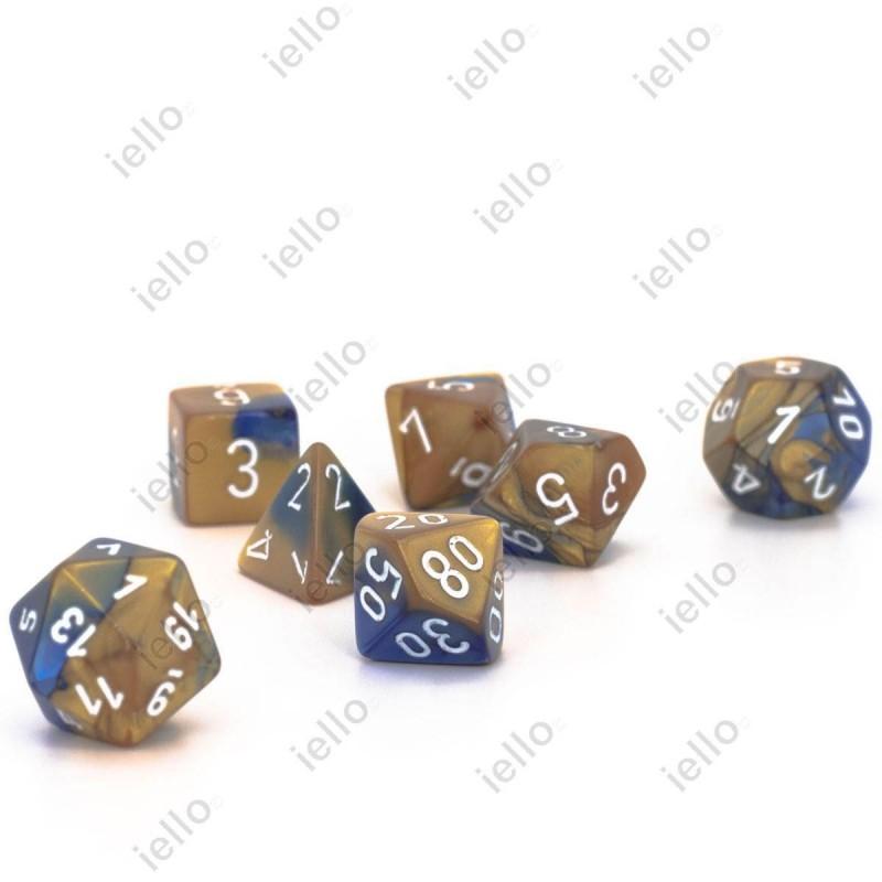 7 dés * gemini * Or & Bleu un jeu Chessex