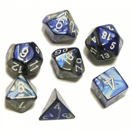 7 dés * gemini * Acier & Bleu un jeu Chessex