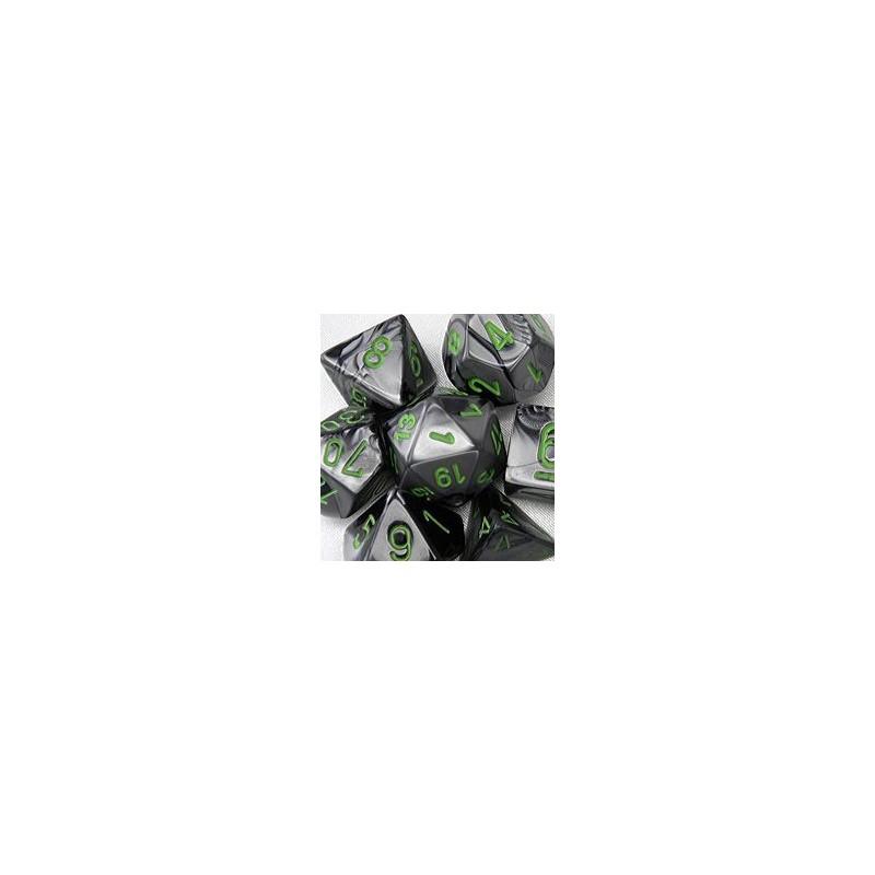 7 dés * gemini * NOIR & GRIS un jeu Chessex