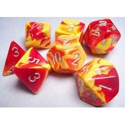 7 dés * gemini * ROUGE & JAUNE un jeu Chessex