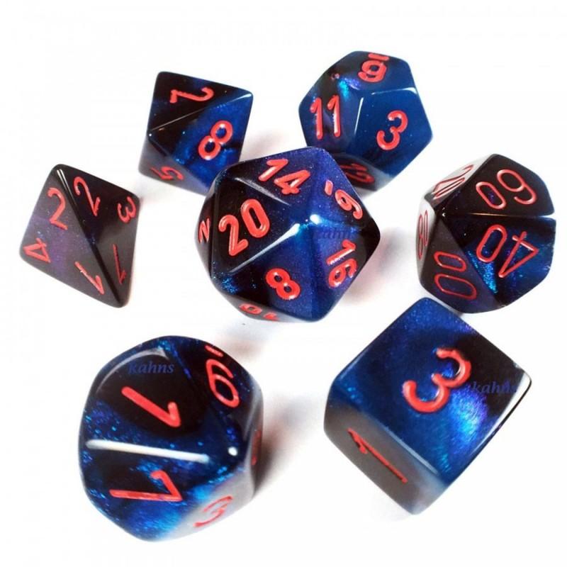 7 dés * gemini * Bleu-nuit et Noir un jeu Chessex