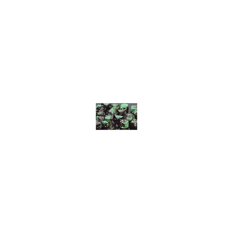 Pack de 12 dés D6 * gemini * NOIR & VERT un jeu Chessex