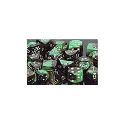 Pack de 36 dés D6 * gemini * NOIR & VERT un jeu Chessex