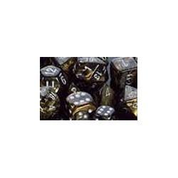 10 dés 10 * feuille * NOIR & OR un jeu Chessex