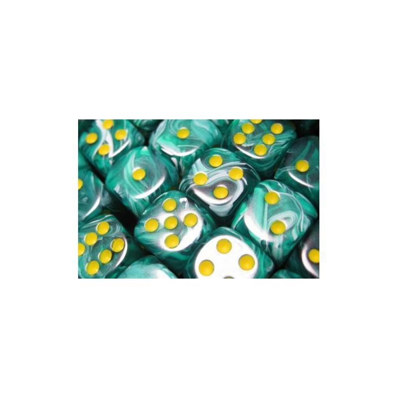 Pack de 36 dés D6 * vortex * VERT MALACHITE un jeu Chessex
