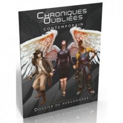 Chroniques Oubliées Contemporain - Dossier de personnage un jeu Black Book