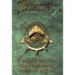 Trinités : cartes des pouvoirs des Deuxième et Troisième Décans un jeu Les XII singes