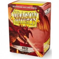 Dragonshield pochettes rouges (100) - 63x88 un jeu Dragonshield