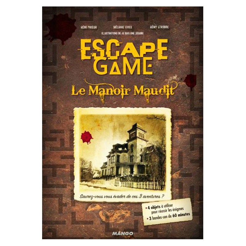 Escape game - Le manoir maudit un jeu Mango
