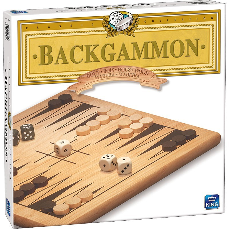 Jeu de backgammon en bois un jeu King