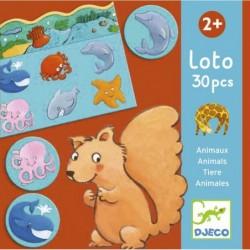Loto 30 pièces - Animaux un jeu Djeco