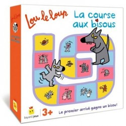 Lou le loup - la course aux bisous un jeu Bayard Jeux