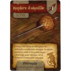 Mice and Mystics - Carte bonus Rapière d'aiguille un jeu Filosofia