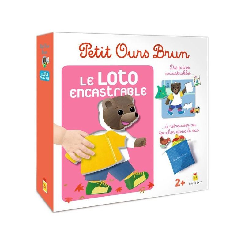 Petit Ours Brun - Le Loto Encastrable un jeu Bayard Jeux