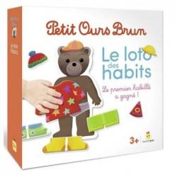 Petit ours brun - Loto des habits un jeu Bayard Jeux