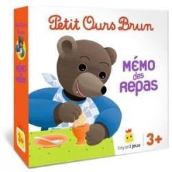 Petit ours brun - Memo des repas un jeu Bayard Jeux