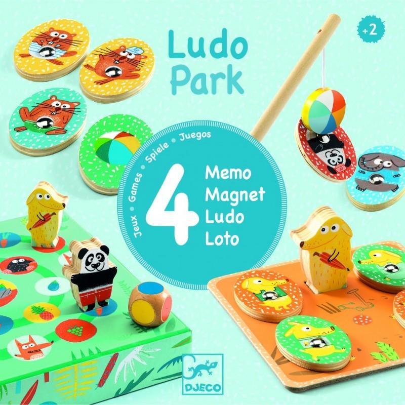 Premiers apprentissages - Ludopark - 4 games un jeu Djeco
