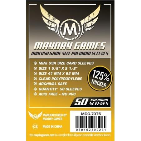 Lot de 50 Protège-Cartes Premium Mini USA 41x63mm un jeu Mayday Games
