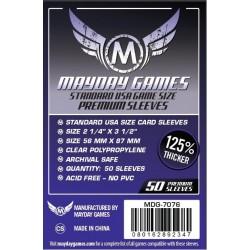Lot de 50 Protège-Cartes Premium USA 56x87mm un jeu Mayday Games