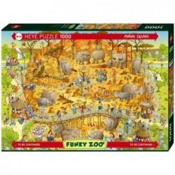 Puzzle 1000 pièces - African habitat un jeu Heye