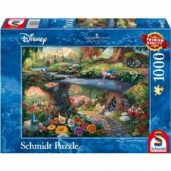 Puzzle 1000 pièces Kinkade - Alice au pays des merveilles un jeu Schmidt