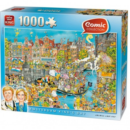 PUZZLE 1000 AMSTERDAM KING'S DAY un jeu King