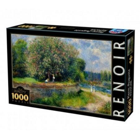 Puzzle 1000 pièces - Le marronnier en fleurs un jeu D-Toys