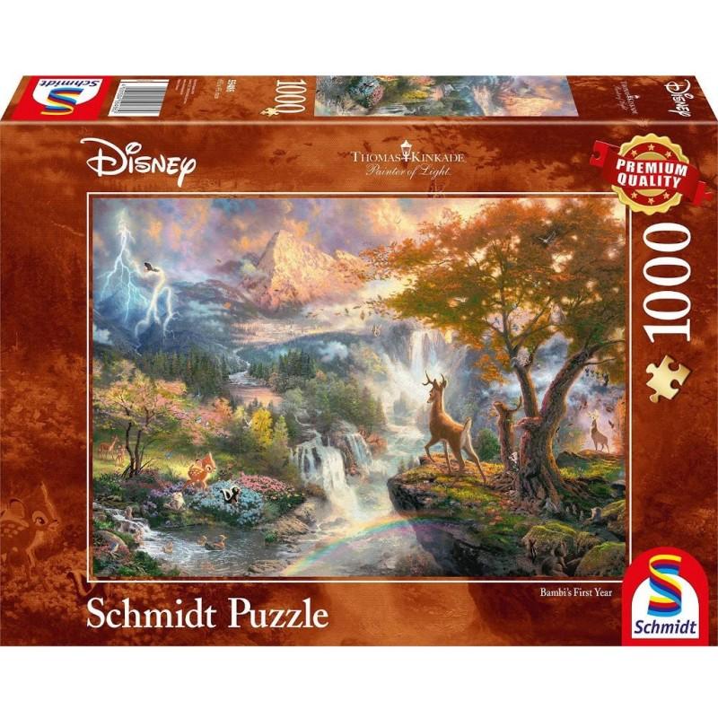 Puzzle 1000 pièces Kinkade - Bambi un jeu Schmidt