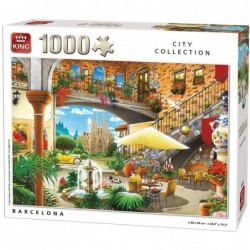Puzzle 1000 pièces - Barcelone un jeu King