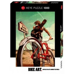 Puzzle 1000 pièces - Bike art music ride un jeu Heye