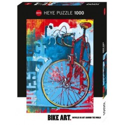 Puzzle 1000 pièces - Bike Art Red un jeu Heye