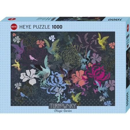 Puzzle 1000 pièces - Birds and flowers un jeu Heye