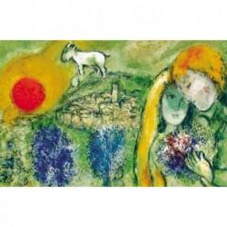 Puzzle 1000 pièces - Chagall - Les amoureux de Vence un jeu Ricordi