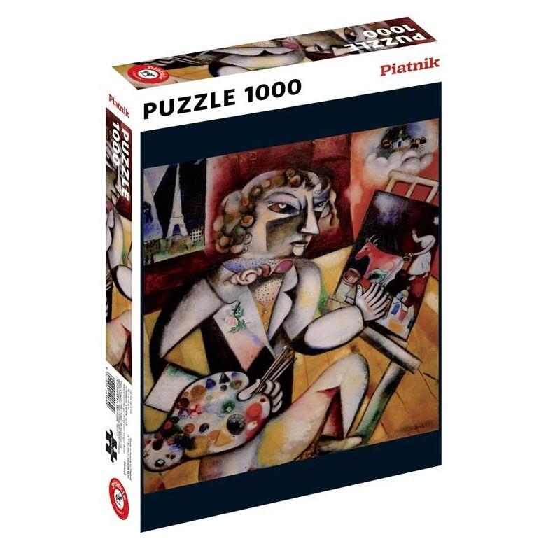 Puzzle 1000 pièces - Chagall - Autoportrait un jeu Piatnik