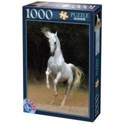 Puzzle 1000 pièces - Cheval blanc un jeu D-Toys