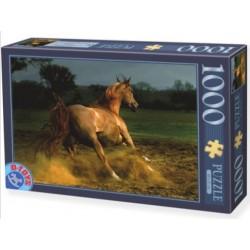 Puzzle 1000 pièces - Cheval marron un jeu D-Toys