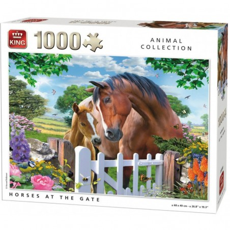 Puzzle 1000 pièces - Horses at the gate un jeu King