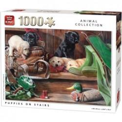 Puzzle 1000 pièces - Chiots un jeu King