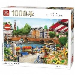 Puzzle 1000 pièces - City collection Amsterdam un jeu King