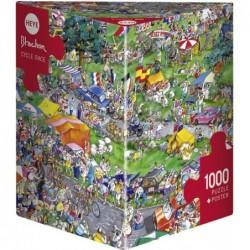 Puzzle 1000 pièces - Blachon - Cycle race un jeu Heye