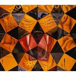 Puzzle 1000 pièces - Dali - Cinquent tigre real un jeu Ricordi