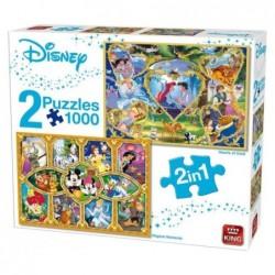 Puzzle 1000 pièces Disney 2 en 1 un jeu King
